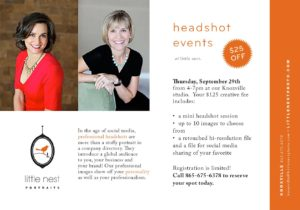 Headshot Event: Save $25! @ Little Nest Portraits | Knoxville | Tennessee | United States
