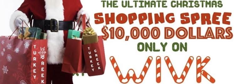 WIVK $10,000 Christmas Shopping Spree Giveaway @ Turkey Creek Shopping | Knoxville | Tennessee | United States